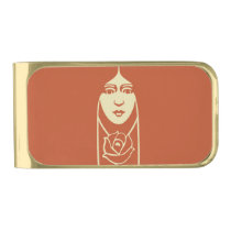 Art Deco Long Haired Girl With Rose Gold Finish Money Clip at Zazzle