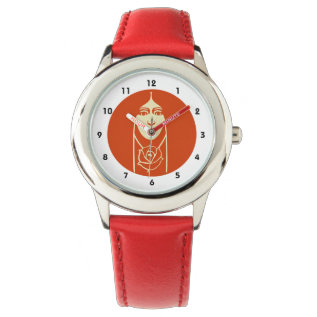 Art Deco Long Haired Girl With Rose Wrist Watch at Zazzle