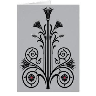 Art Deco Lotus (Egyptian) Card