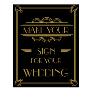 Art Deco Make your own poster party or wedding