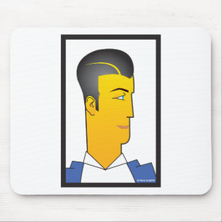 Art Deco Man Mouse Pad