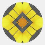 art deco mandala classic round sticker
