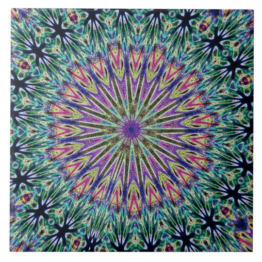 Art Deco Mandela Colorful Ceramic Tile