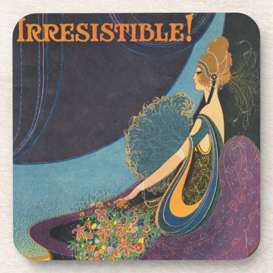 Art Deco Mavis Perfume Advertisement Drink Coaster