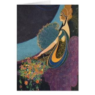 Art Deco Mavis Perfume Advertisement Greeting Card