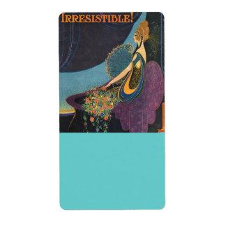 Art Deco Mavis Perfume Advertisement Shipping Label