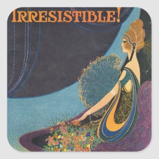 Art Deco Mavis Perfume Advertisement Square Sticker
