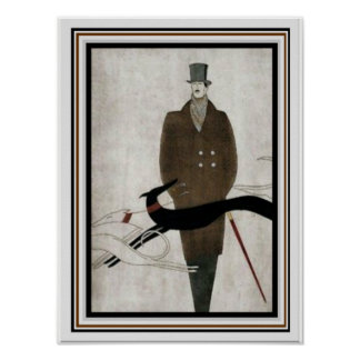 Art Deco Men's Fashion Poster 12 x 16