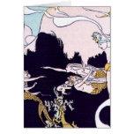 Art Deco Mermaids Greeting Card