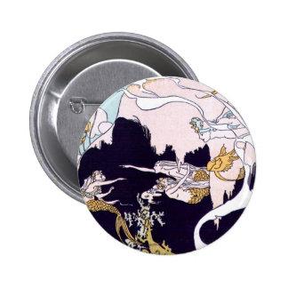 Art Deco Mermaids Pinback Button