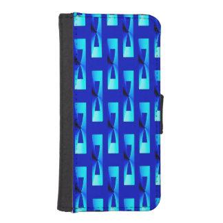 Art Deco Metallic Geometric - Cobalt Blue Phone Wallets