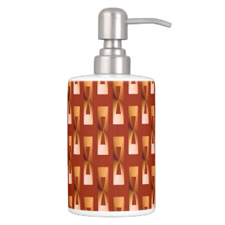 Art Deco Metallic Geometric - Copper and Rust Bath Set