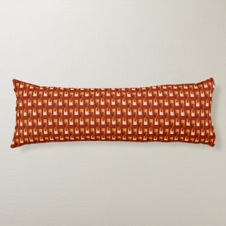 Art Deco Metallic Geometric - Copper and Rust Body Pillow