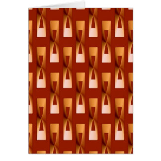 Art Deco Metallic Geometric - Copper and Rust Card