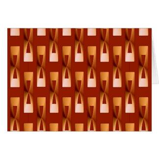 Art Deco Metallic Geometric - Copper and Rust Card