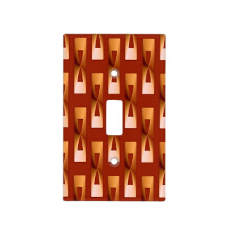 Art Deco Metallic Geometric - Copper and Rust Light Switch Cover
