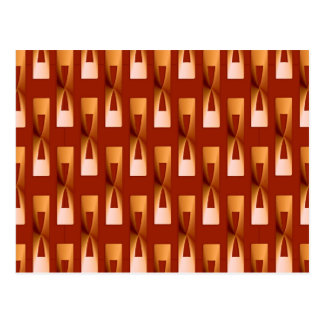 Art Deco Metallic Geometric - Copper and Rust Postcard