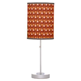 Art Deco Metallic Geometric - Copper and Rust Table Lamp