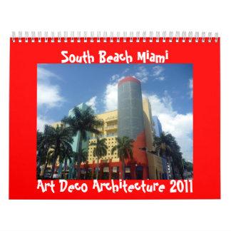 art deco miami 2011 calendar