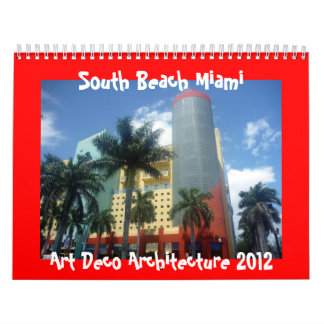 art deco miami 2012 calendar