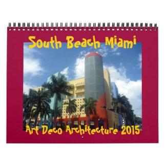 art deco miami 2015 wall calendars