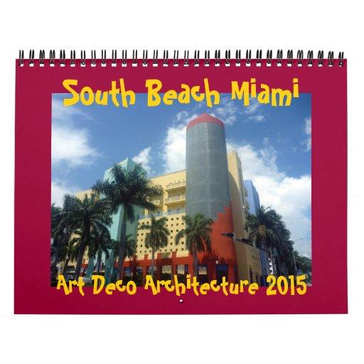 art déco Miami 2015 Calendarios De Pared