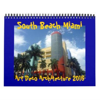 art déco Miami 2016 Calendarios De Pared