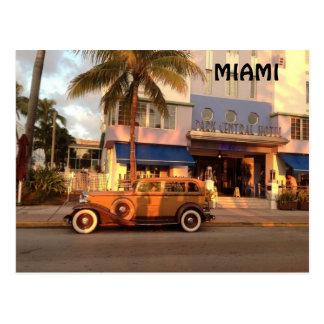 Art déco Miami Tarjeta Postal