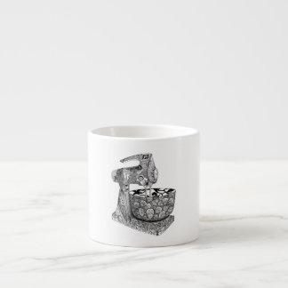 art deco mixer espresso mug 6 oz ceramic espresso cup