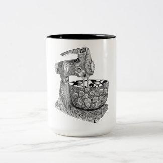 art deco mixer mug