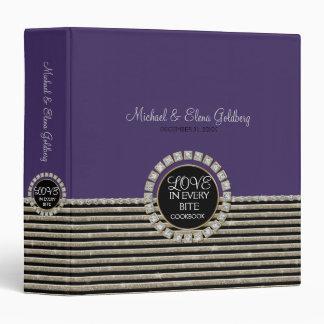 Art Deco Modern Horizontal Stripe Glitter Look 3 Ring Binders