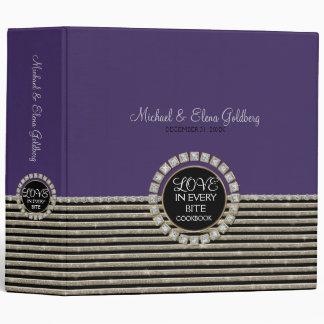 Art Deco Modern Horizontal Stripe Glitter Look Binder