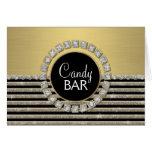 Art Deco Modern Horizontal Stripe Glitter Look Card