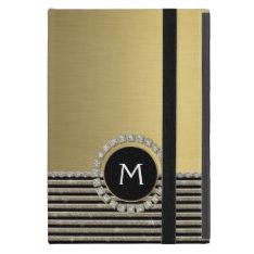 Art Deco Modern Horizontal Stripe Glitter Look Cases For Ipad Mini at Zazzle