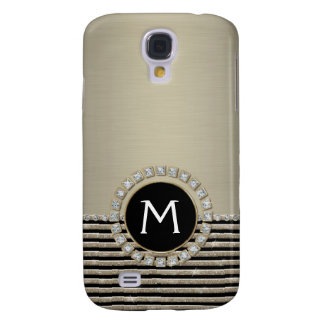 Art Deco Modern Horizontal Stripe Glitter Look Samsung S4 Case