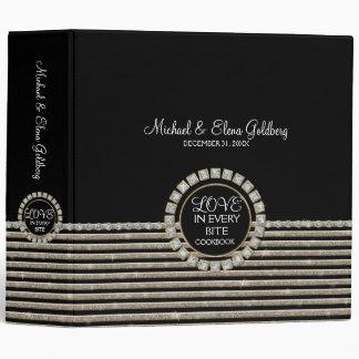 Art Deco Modern Horizontal Striped Wedding Set Binders