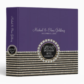 Art Deco Modern Horizontal Striped Wedding Sets 3 Ring Binder