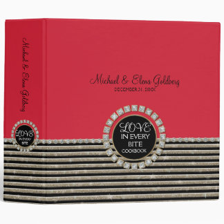 Art Deco Modern Horizontal Striped Wedding Sets Binders
