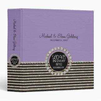 Art Deco Modern Horizontal Striped Wedding Sets Vinyl Binders