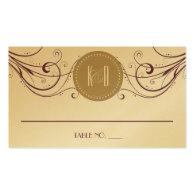 Art Deco Modern Wedding Placecards Business Card Templates