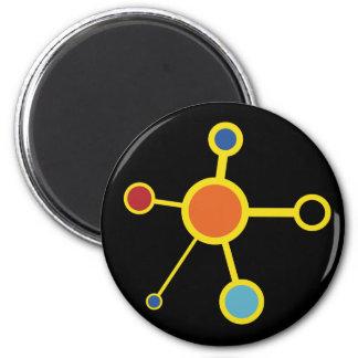 Art Deco Molecule Refrigerator Magnets