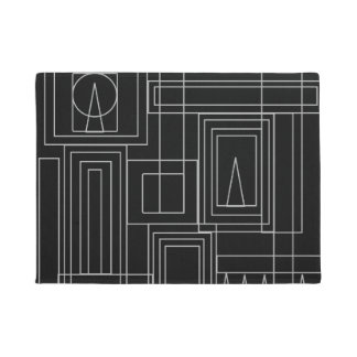 Art Deco Monochrome Door Mat
