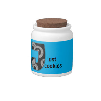 art deco monogram - J Candy Jars