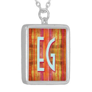 Art Deco Monogram Custom Necklace