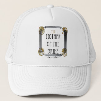 Art Deco Mother of the Bride in Black and gold Trucker Hat
