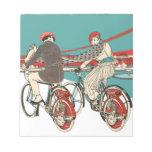 Art Deco Motorcycling Memo Notepads