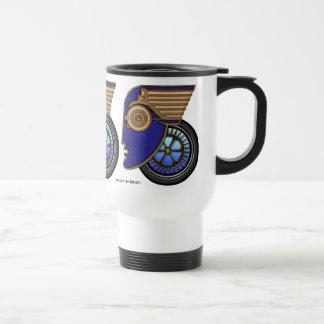 Art Deco Motorhead 15 Oz Stainless Steel Travel Mug
