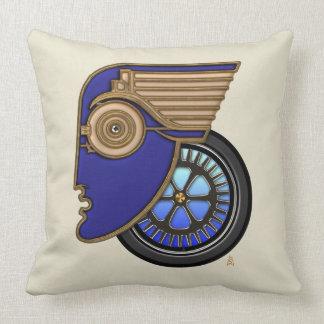 Art Deco Motorhead Throw Pillow