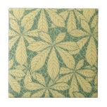 art deco nature leaves foliage pattern art small square tile