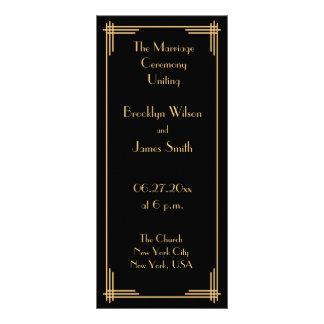 Art déco negro de Gatsby del oro gran que casa Plantillas De Lonas